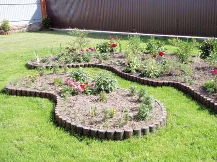 Палисад для устройства клумб садовое